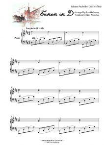 Sheet nhạc piano Canon in D | Johann Pachelbel