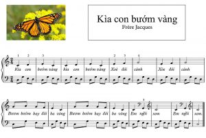 Kìa con bướm vàng - Piano đô rê mi