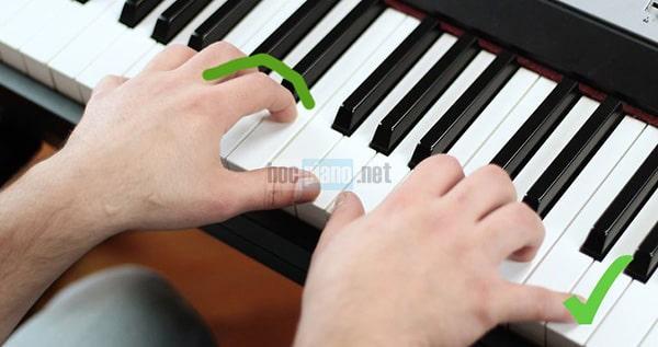 Tư thế ngón tay khi chơi piano