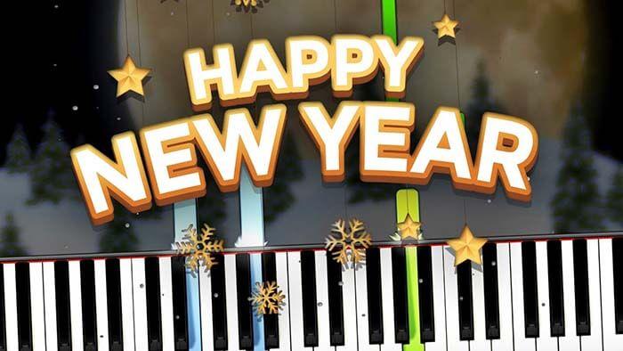 Cách đánh đàn piano bài Happy new year