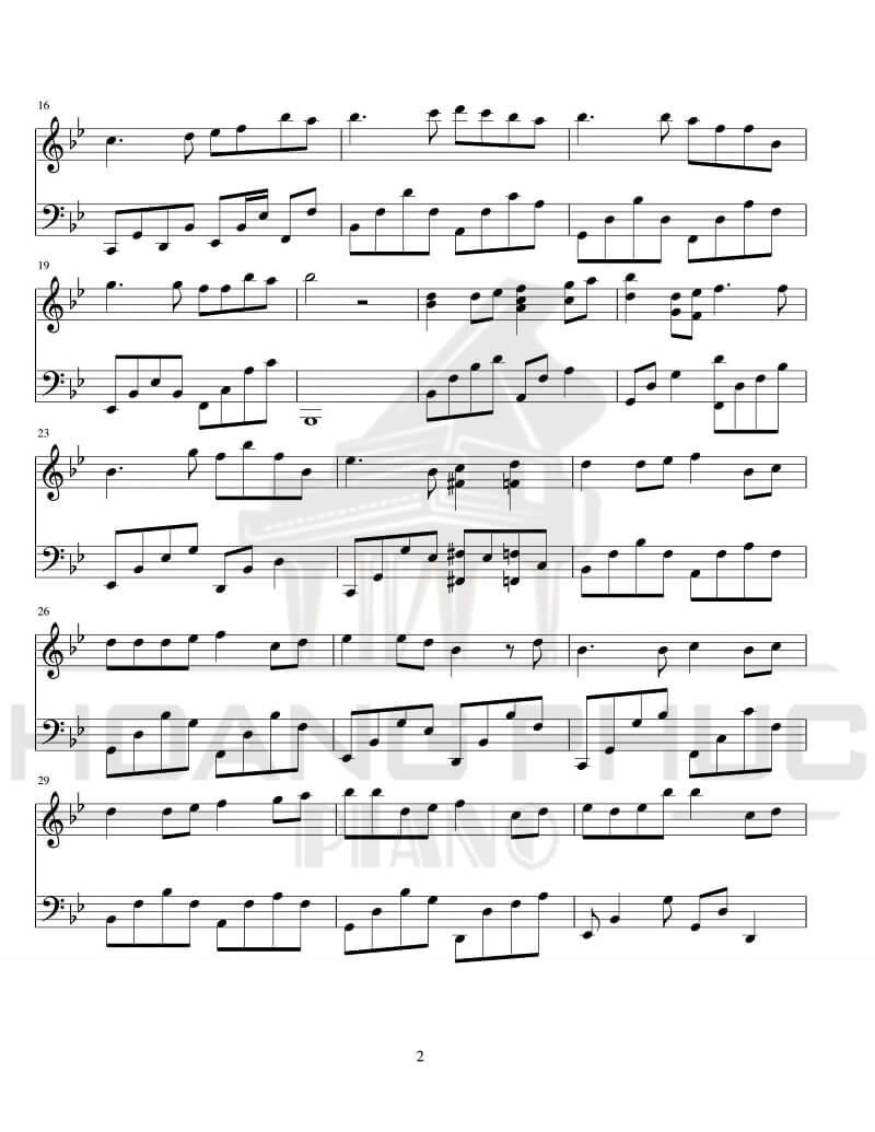 Sheet nhạc piano Proud of you   Fiona Fung